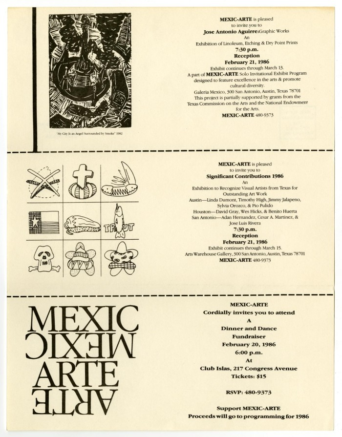 Invitation Pamphlet to Art Exhibit The Portal to Texas History