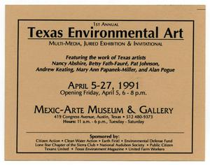 Primary view of object titled '[Flyer: Texas Environmental Art]'.
