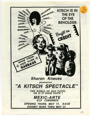 Primary view of object titled '[Flyer: A Kitsch Spectacle]'.