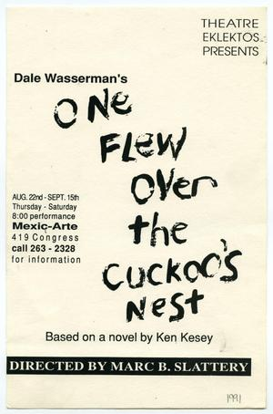 Primary view of object titled '[Flyer: One Flew Over the Cuckoo's Nest]'.