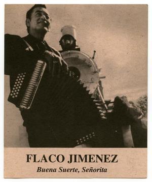 Primary view of [Postcard: Flaco Jimenez Benefit Concert]