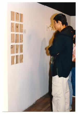 Primary view of [Patron Looking at Art]