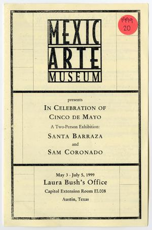 Primary view of object titled '[Pamphlet: Santa Barraza and Sam Coronado]'.