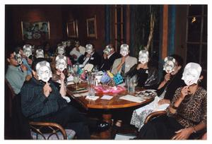 Primary view of object titled '[Group Photo with Frida Kahlo Masks During Benefit]'.