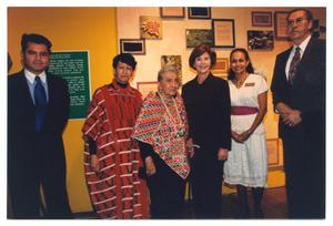 Primary view of object titled '[Laura Bush, Sylvia Orozco, and Others at Style Show]'.