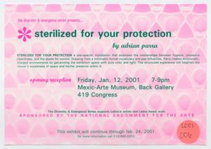 [Flyer: Sterilized for Your Protection]