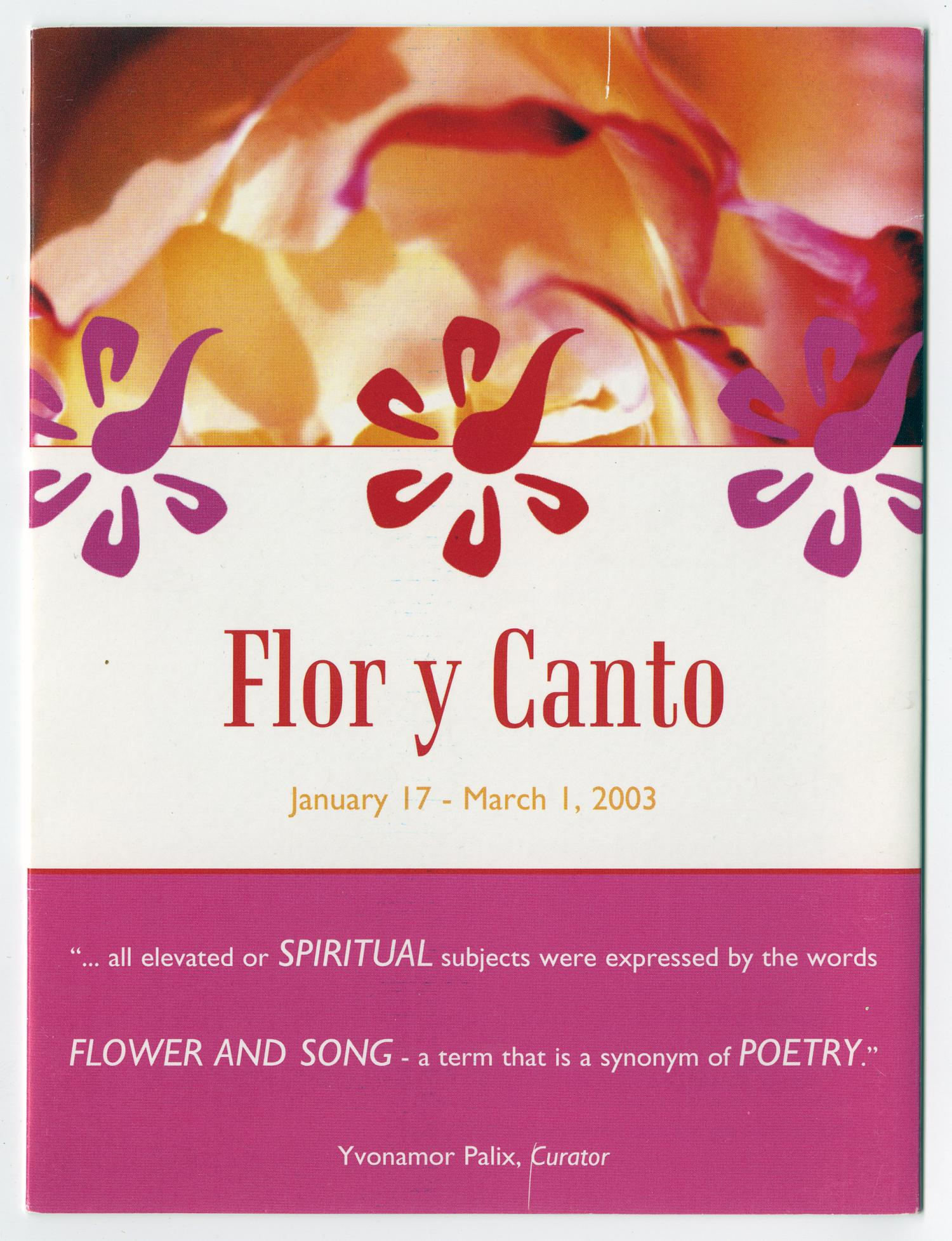 Pamphlet Flor Y Canto Flower And Song The Portal To Texas History