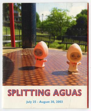 Primary view of object titled '[Pamphlet: The 8th Annual Young Latino Artists Exhibition, Spitting Aguas]'.