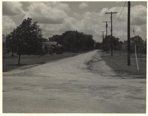 Primary view of object titled 'Pittman Street, East from Abrams Road, 1959, Richardson, Texas'.