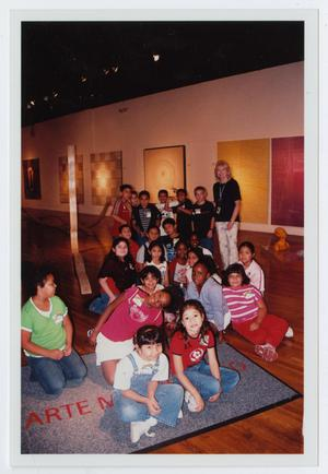 Primary view of object titled '[School Group in Gallery]'.