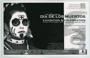 Primary view of object titled '[Postcard: The 23rd Annual Día de los Muertos Exhibition and Celebration]'.