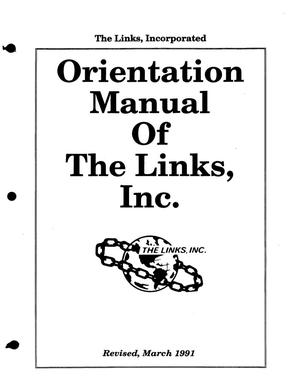 Primary view of object titled '[Orientation Manuel of the Links, Inc.]'.