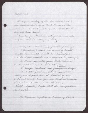 Primary view of object titled '[Minutes for the San Antonio Chapter of the Links, Inc. Meeting - October 22, 1962]'.