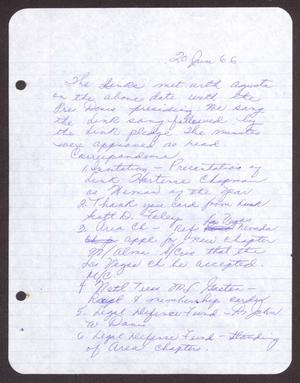 Primary view of object titled '[Minutes for the San Antonio Chapter of the Links, Inc. Meeting - June 20, 1966]'.