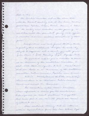 Primary view of object titled '[Minutes for the San Antonio Chapter of the Links, Inc. Meeting - September 6, 1966]'.