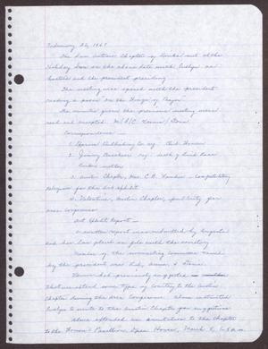 Primary view of object titled '[Minutes for the San Antonio Chapter of the Links, Inc. Meeting - February 26, 1967]'.