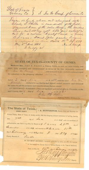 Deed for land in Grimes County