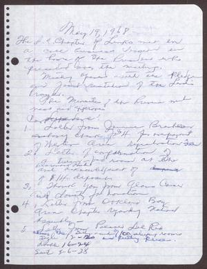 Primary view of object titled '[Minutes for the San Antonio Chapter of the Links, Inc. Meeting - May 19, 1968]'.