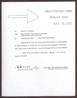 Primary view of object titled '[Memorandum to Chapter Presidents - 1969]'.