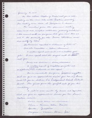 Primary view of object titled '[Minutes for the San Antonio Chapter of the Links, Inc. Meeting - January 31, 1970]'.