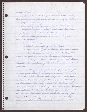 Primary view of object titled '[Minutes for the San Antonio Chapter of the Links, Inc. Meeting - March 15, 1970]'.