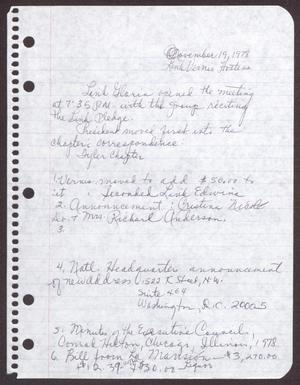 Primary view of object titled '[Minutes for the San Antonio Chapter of the Links, Inc. Meeting - November 19, 1978]'.