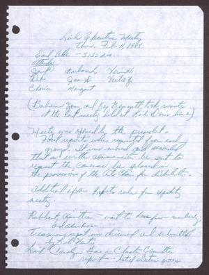 Primary view of object titled '[Minutes for the San Antonio Chapter of the Links, Inc. Meeting - February 11, 1988]'.