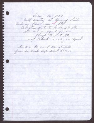 Primary view of object titled '[Minutes for the San Antonio Chapter of the Links, Inc. Meeting - December 13, 1978]'.
