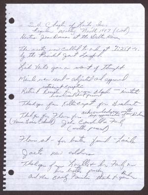 Primary view of object titled '[Minutes for the San Antonio Chapter of the Links, Inc. Meeting - November 18, 1987, Part 2]'.
