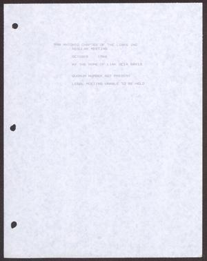 Primary view of object titled '[Links Chapter Documentation: Note about the October 1988 meeting of the San Antonio chapter of The Links, Inc.]'.