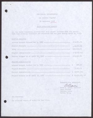 Primary view of object titled '[Status Report: Audit Committee - September 1987]'.