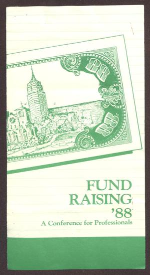 Primary view of object titled '[Links Chapter Documentation: Fund Raising '88: A Conference for Professionals]'.