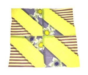 Primary view of object titled '[Yellow-and-Purple Quilt Block]'.