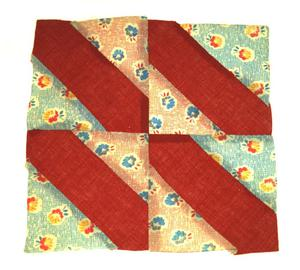 Primary view of object titled '[Red Quilt Block]'.