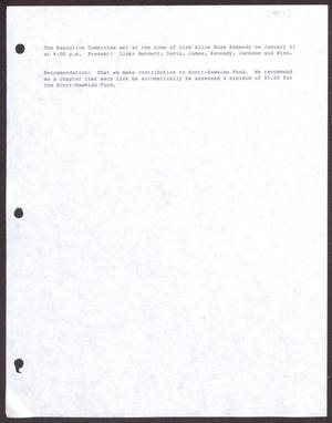 Primary view of object titled '[Memorandum of Meeting: Executive Meeting, Home of Alice Rose Kennedy, January 11, 1991]'.