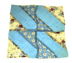 Primary view of object titled '[Light Blue Quilt Block]'.