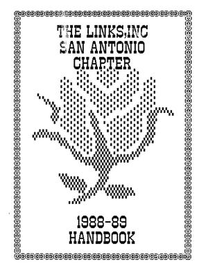 Primary view of object titled 'The Links, Inc. San Antonio Chapter Handbook, 1988'.