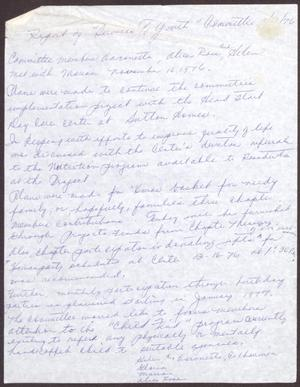 Primary view of object titled '[Status Report: Services to Youth Committee - November 1976]'.