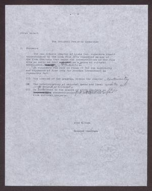 Primary view of object titled '[First Report on The National Projects Committee]'.