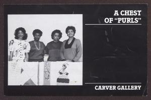 "Primary view of object titled '[Postcard for A Chest of ""Purls"", a Fibers Art Exhibition at the Carver Gallery.]'."