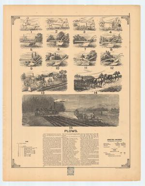 Print of plows and harrows