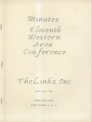 Primary view of object titled 'Minutes of the Eleventh Western Area Conference of The Links, Inc., June 22-23, 1964'.