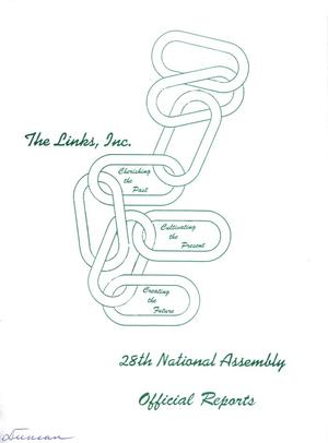Primary view of object titled 'Twenty-Eighth National Assembly Official Reports of The Links, Inc., June-July 1992'.