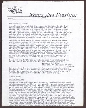Primary view of object titled 'Western Area Newsletter, Volume 11, Number 3, June 1983'.