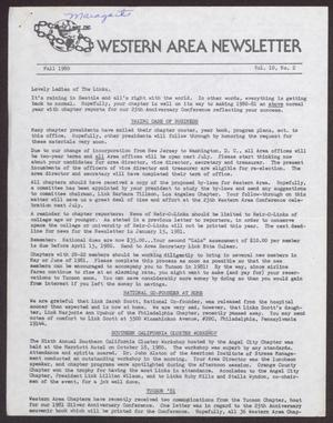 Primary view of object titled 'Western Area Newsletter, Volume 10, Number 2, Fall 1980'.