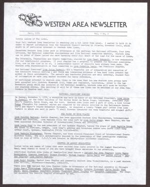Primary view of object titled 'Western Area Newsletter, Volume 7, Number 2, Fall 1978'.