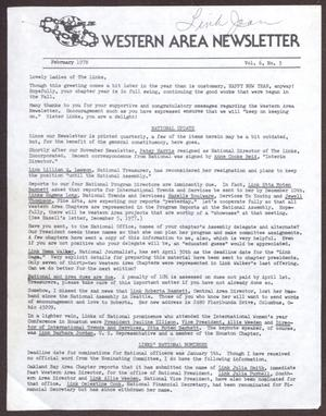 Primary view of object titled 'Western Area Newsletter, Volume 6, Number 3, February 1978'.
