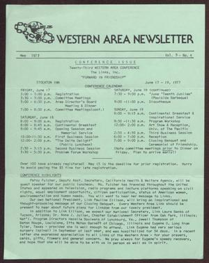 Primary view of object titled 'Western Area Newsletter, Volume 5, Number 4, May 1977'.