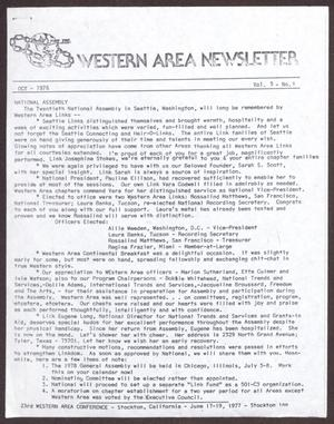 Primary view of object titled 'Western Area Newsletter, Volume 5, Number 1, October 1976'.