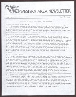 Primary view of object titled 'Western Area Newsletter, Volume 5, Number 2, January 1977'.